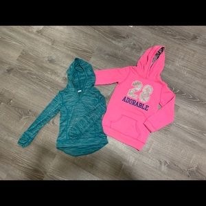2 girls hoodies
